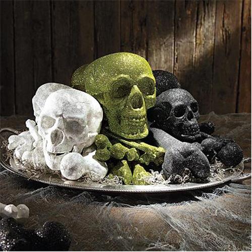 martha-stewart-glittered-skull-and-bones-set