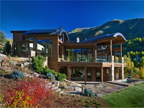 Estate of the day 35 million compound in aspen colorado for Colorado mountain houses