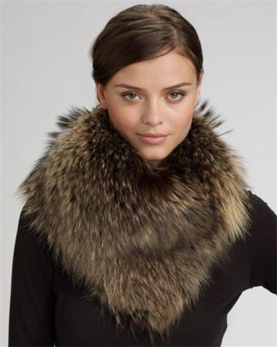 Adrienne Landau Raccoon Fur Loop