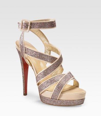 Christian Louboutin Straratata Glitter Platform Sandals