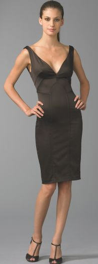 David Meister Fitted Satin Dress 4