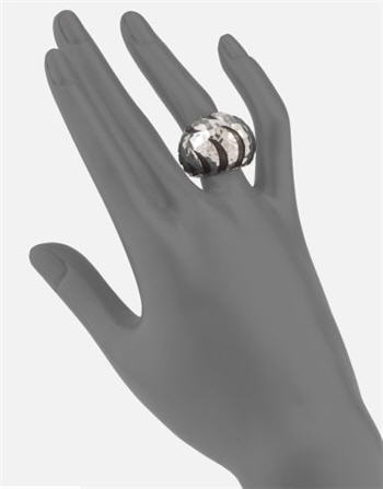 John Hardy Sterling Silver Dome Ring 2