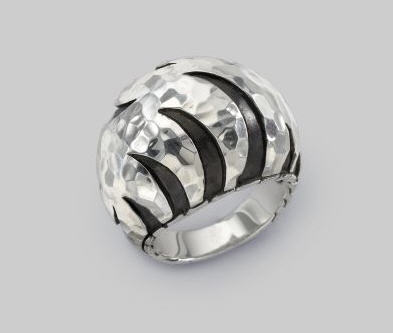 John Hardy Sterling Silver Dome Ring