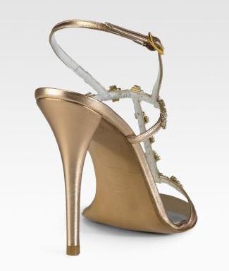 Stuart Weitzman Crystal-Embellished T-Strap Sandals 2
