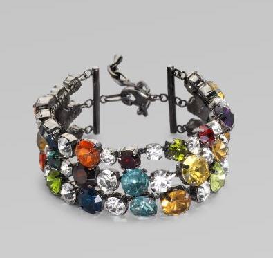 Vera Wang Multi-Color Rhinestone Bracelet