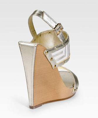 Versace Stacked Wedge Logo Sandals 2