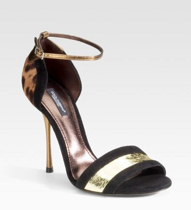 The Dolce Gabbana Pony Leopard Sandals 650 feature a glamorous design