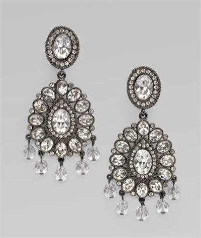Kenneth Jay Lane Crystal Chandelier Earrings