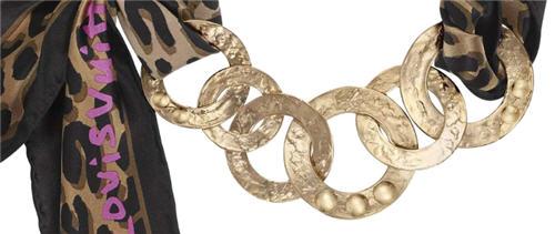 Louis Vuitton scarf necklace 2