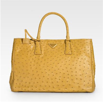 Prada Ostrich Leather Tote