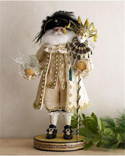 Venetian Santa Christmas Figure