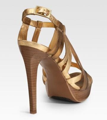 Diane von Furstenberg Luxe Metallic Platform Sandals 2