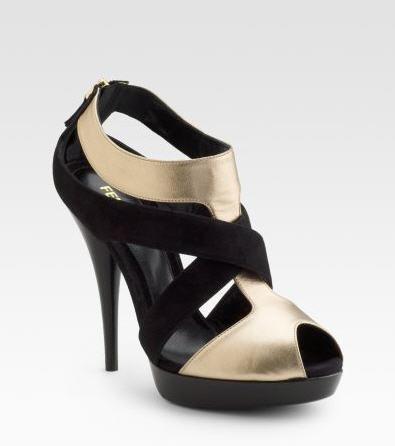 Fendi Natalia Crisscross Platform Sandals