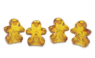 Gingerbread Man Tiny Taper Holders 2