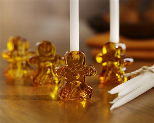 Gingerbread Man Tiny Taper Holders
