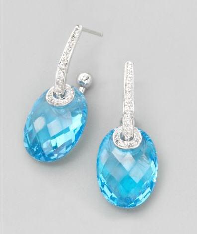 H2 at Hammerman Blue Topaz Earrings