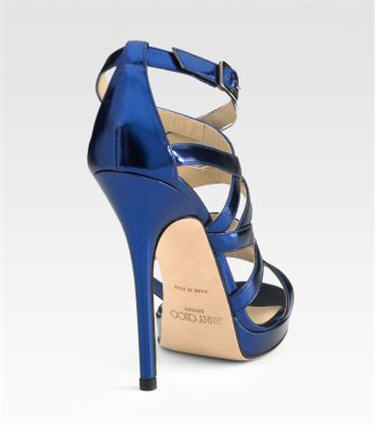 Jimmy Choo Zero Mirror Leather Platform Sandals 2