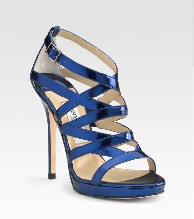 Jimmy Choo Zero Mirror Leather Platform Sandals