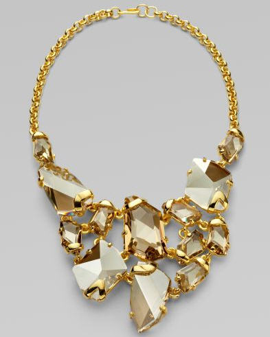 Kenneth Jay Lane Faceted Crystal Bib Necklace 3
