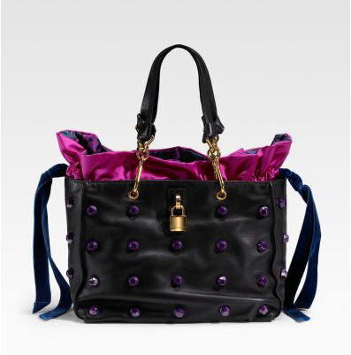 Marc Jacobs Vortex Small Tote :  drawstring bag satin stud