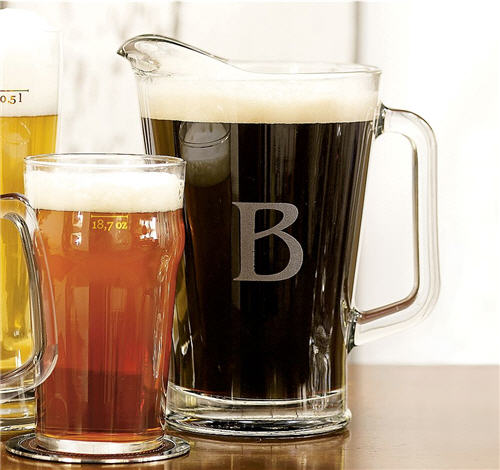 Monogrammable Beer Pitcher