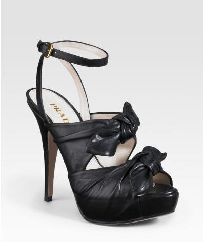 Prada Knotted Sandals