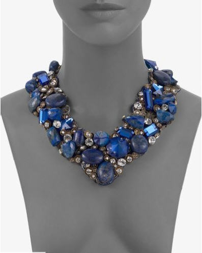 Ranjana Khan Lapis Bead Bib Necklace 2