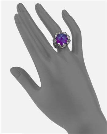 Stephen Webster Purple Sugalite & Sterling Silver Ring 2