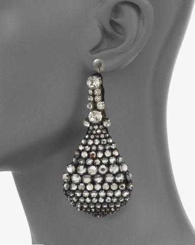 Vera Wang Crystal Teardrop Earrings 2