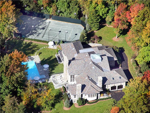 $12 Million Colonial Manor in Alpine New Jersey
