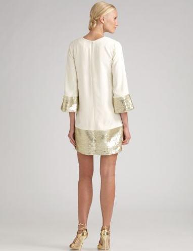 Candela Sequined Cuff & Hem Dress 2