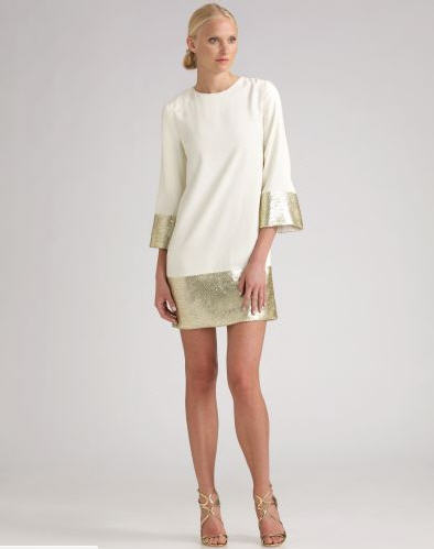 Candela Sequined Cuff & Hem Dress