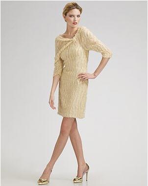 Carolina Herrera Draped Shoulder Fils Coupe Organza Dress