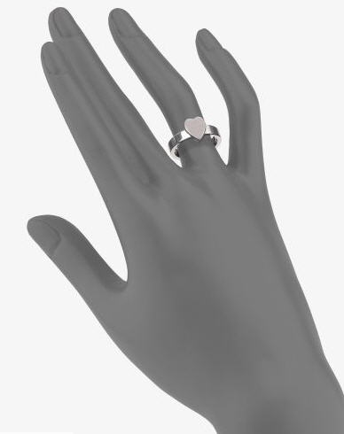 Gucci Sterling Silver Heart Ring 2