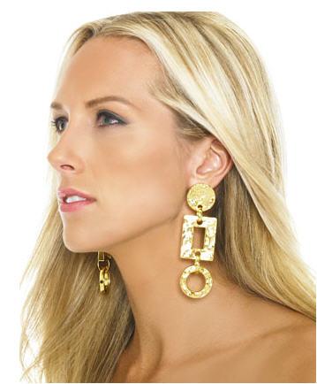 Michael Kors Geometric Drop Earrings