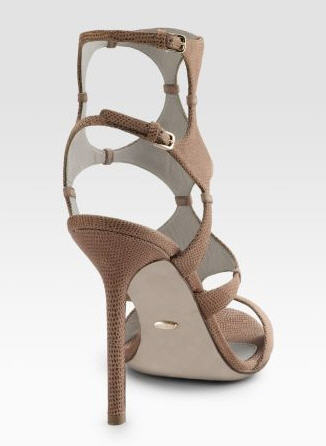 Sergio Rossi Stamp Cut-Out Sandals 2