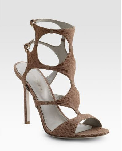 Sergio Rossi Stamp Cut-Out Sandals
