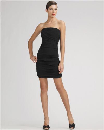 Dolce & Gabbana Strapless Ruched Dress