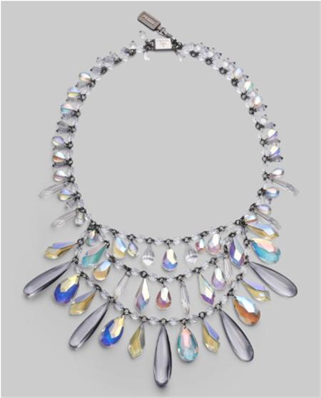 Prada Tiered Chandelier Necklace