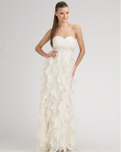 Sue wong strapless feather gown junglespirit Gallery