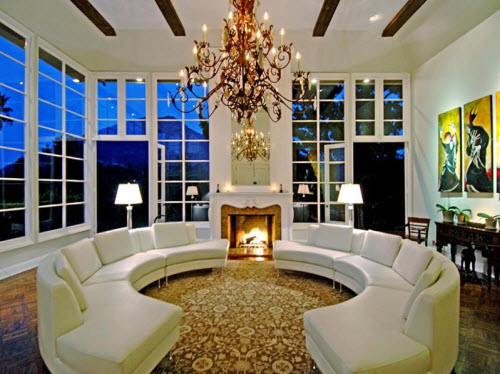 Mansion Living Room >> Estate of the Day: $7.7 Million Luxurious Mansion in Los Angeles, California
