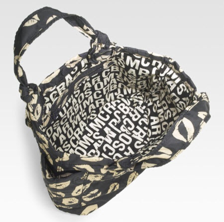 This Marc by Marc Jacobs Pretty Nylon Tote Bag (8) has a pouty kiss print ...