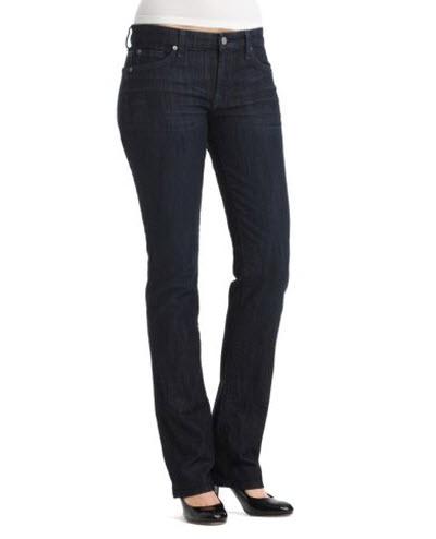 """281286e4de1 7 For All Mankind """"Kimmie"""" Straight-Leg Jeans in Dark Rinse Wash"""