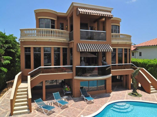 Estate of the day 9 9 million mediterranean mansion in for 3 story homes