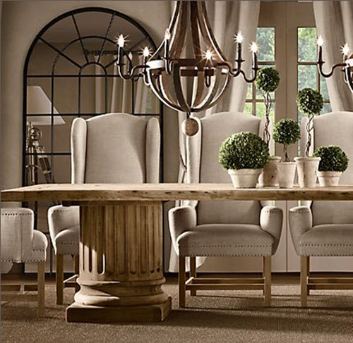 Palladian mirror - Restoration hardware entry table ...