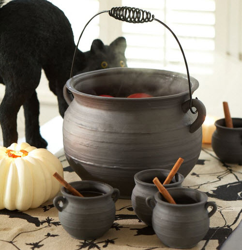 Halloween Decor Cauldron Punch Bowl Amp Cups