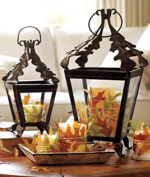Fall decor leaf lantern for Home accessories online