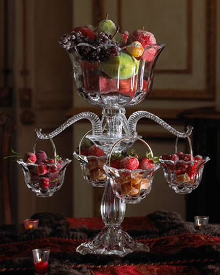 luxury home decor: crystal epergne