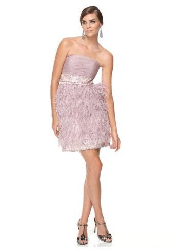 9d45cb952c46 Sue Wong Strapless Feather Dress