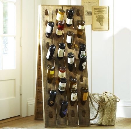 pottery barn riddling wine rack